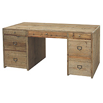 Hughes Desk-Bleached Pine