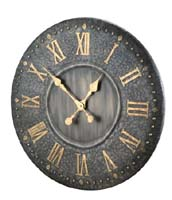 IRON ANTIQUE FINISHED CLOCK (functional)